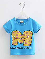 Cotton Short Sleeve T Shirts For Girls Cartoon Cartoon M Word T-Shirts Baby Tops Boys T Shirts Children's Clothing