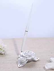 Pearl White Resin Rose Pen Base