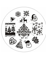 Christmas Santa Snow Deer Manicure Printing Plate