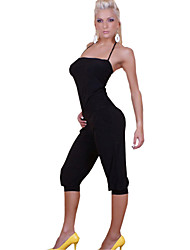 Dancing Girl Black Halter Jumpsuit Women's Costume