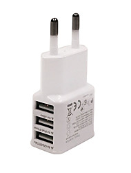 Universal EU Plug  3-Port USB Charger iPhone 6/6 Plus/5/5S Samsung S4/5 HTC LG and Others
