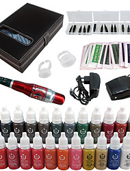 Solong Tattoo Permanent Makeup Kit Tattoo Pen Eyebrow Lip Machine Set 23 Makeup Inks EK707-5