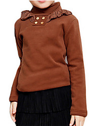 Girl's Brown Blouse Cotton Spring / Fall