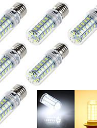 YouOKLight® 6PCS E14/E27 4W  48*SMD5730  Warm White Cold White CRI>80 LED Corn Bulbs Lamp(AC110V-120V/220V-240V)