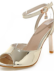 Women's Shoes Stiletto Heel/Slingback/Open Toe Sandals Party & Evening/Dress Silver/Gold