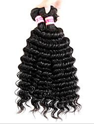 6а Малайзии волосы 3шт Малайзии глубокая волна натуральный черный волосы девственницы малайзийские волосы пучки