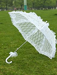 Hochzeit Spitzen Regenschirm ca.75cm Metall ca.72cm