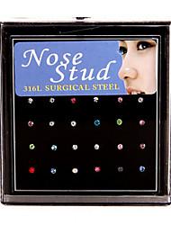 Anéis e Brincos de Nariz / Piercing no nariz Aço Inoxidável Bohemia Estilo Dourado / Prateado Jóias,1conjunto