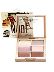 6 Eyeshadow Palette Dry / Matte / Shimmer Eyeshadow palette Powder NormalCateye Makeup / Smokey Makeup / Daily Makeup / Halloween Makeup