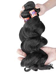 """4pcs / lot 12 """"-24"""" cabelo humano cabelo virgem onda solta brasileira 8a tramas 100% cabelo remy brasileiro tece não transformados"""
