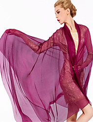Women Cute Pure Color Brightly High-end Scarves Chiffon Shawl Beach Towel