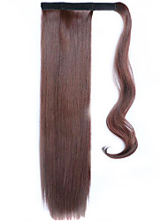 Brown-Black 60CM Synthetic High Temperature Wire Wig Straight Hair Ponytail Color 33J