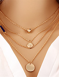 Necklace Pendant Necklaces Jewelry Wedding / Party / Daily / Casual Crystal / Alloy Gold 1pc Gift
