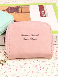 Women PU Casual Coin Purse Pink / Yellow