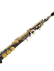 soltar b saxofone soprano, preto do ouro de níquel jian sax