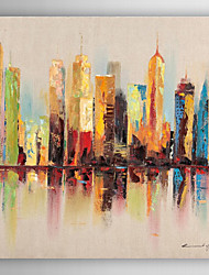 ручной росписью пейзаж городской пейзаж маслом с растянутыми кадр 7 стены arts®