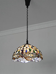 16 inch Retro Tiffany Pendant Lights Shell Shade Mahjong parlors Chess Room rise-and-fall pendant