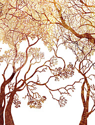 JAMMORY  Trees/Leaves Wallpaper Contemporary Wall Covering,Canvas Large Mural Trunk