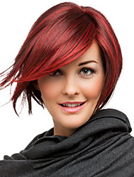 Popular Wigs Red Color Top Quality Synthetic Wigs