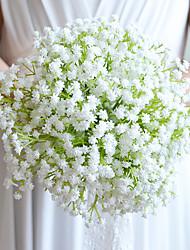 Fleurs de mariage Rond Lis Bouquets Mariage Satin Coton Papier Env.23cm