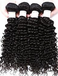 4Pcs/lot 8-30'' Brazilian Deep Wave Virgin Hair  Natural Black Color Human Hair Weaves Brazilian Hair Bundles