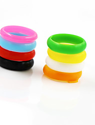 Silicone Ring Band Rings Daily / Casual / Sports 8pcs