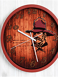 The American Cowboy 3D Stereo Wall Clock