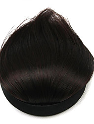Wig Chocolate Color 8CM High-Temperature Wire Oblique Bangs Colour 2/33
