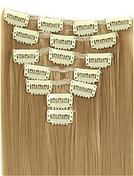 "16""-28"" Brazilian Human Hair Clip In Hair Extension 7pcs/pack 100g Human Hair Extension"