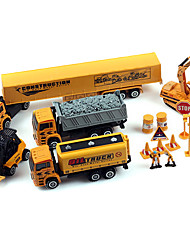 Set Dibang -2272 truck 1:64 alloy model toy car electric rail car toys for children (2PCS)