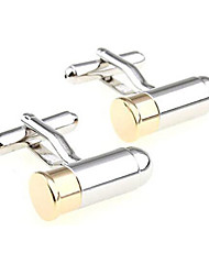 Men's Fashion Classic Silver Alloy French Shirt Cufflinks (1-Pair)
