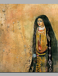 Ismatic Art Woman in Abaya Handmade Painting Stretchered Handmade