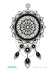 Large Tattoo Sticker Indian Style Sun Flower Totem Designs Temporary Tattoo Terrorist Stickers Flash Taty Tatoo