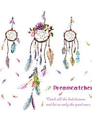 Wall Stickers Wall Decals Style Wind Chimes Feather PVC Wall Stickers