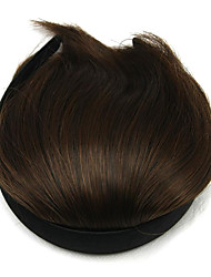 Wig Brown 8CM High-Temperature Wire Oblique Bangs Colour 2/30
