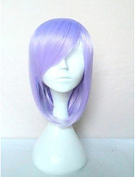 Top Quality Light  Purple Wig with Side Bang Synthetic Wig Long Straight  Hair Wigs