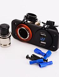 IZTOSS Dual Cigarette Lighter Socket 12V USB 4.2A Adapter digital volmeter for for Motorcycle Car Boat Marine Carvan