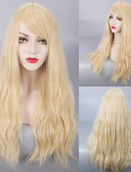 Loose Wave Fashion 613# Blonde Long Length Heat Resistant Daily Wearing Wig or Cosplay Party Hairstyle Wig for Blonde Women with Full Bang
