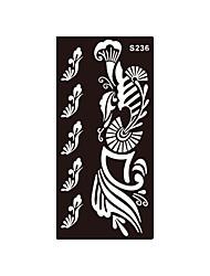 tatouage henné fleur charme art corporel au pochoir tatouage autocollant aérographe impression de maquillage temporaire 1pc S236