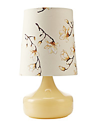 LightMyself Fabric Table Lamp 1 Lights Glass Table Lights for Bedroom