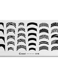 bluezoo rectangle art impression ongles estampage (c-016)