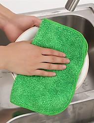 cor de limpeza de poliéster aleatória cozinha toalha de pano limpo