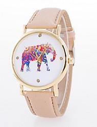 ms relógio de senhora. pulseira de relógio de quartzo de marcação de quartzo elefante flor