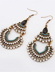 2016 Women's Drop Bohemian Rhinestone Beaded Fringes Earrings For Women Vintage Flower Big Long Earrings