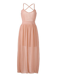 Women's Sexy Backless Sleeveless Chiffon Maxi Dress (More Colors)