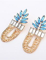 2016 New Hoop Earrings Gold Color Long Chain Tassel Dangle Hanging Big Statement Earrings For Women