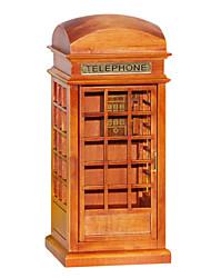 madeira criativo caixa de música vermelho / marrom romântico para o presente