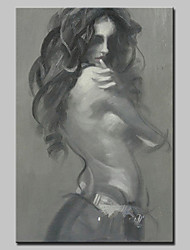Large Size Canvas Semi-naked Babe Oil Painting Hand Painted Modern Wall Art With Stretched Frame Ready To Hang