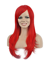 Natural long Red Color Popular Synthetic Wig For Woman