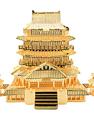 Jigsaw Puzzles 3D Puzzles Building Blocks DIY Toys Chinese Architecture Metal Gold Model & Building Toy